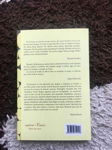 libro poesía desmonte ricardo czikk viajera editorial