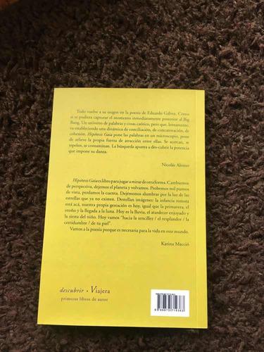 libro poesía hipótesis gaia eduardo gálvez viajera editorial