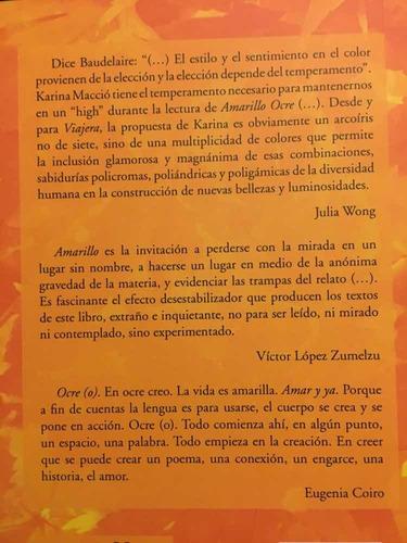 libro poesía ocre amarillo karina macció viajera editorial