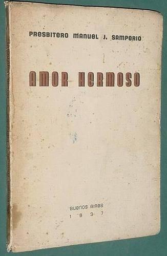 libro poesia religion presbitero samperio amor hermoso 1937