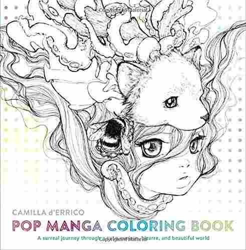 Libro Pop Manga Adult Coloring Book: A Surreal Journey Throu ...