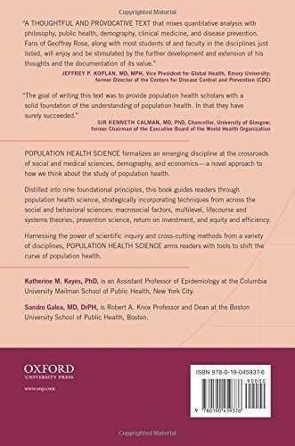 libro population health science - nuevo