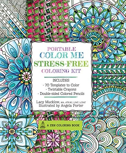 Libro Portable Color Me Stress-free Coloring Kit: 70 Color ...