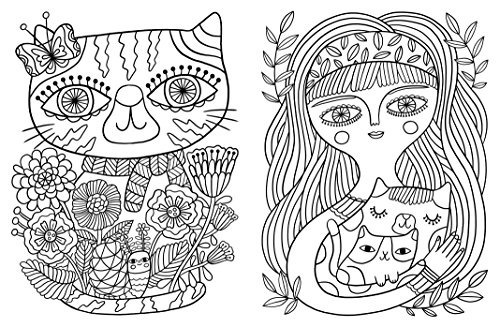 Libro Posh Coloring Book: Cats & Kittens For Comfort & Creat ...