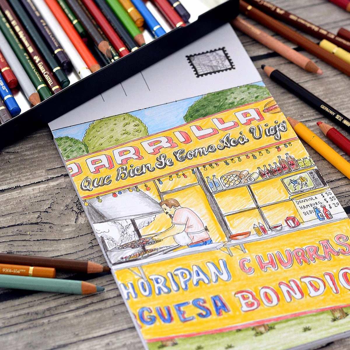 Libro Postales De Buenos Aires Colorear Monoblock - $ 148,00 en ...