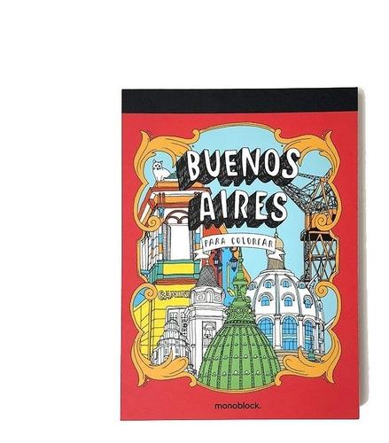 libro postales de buenos aires para colorear