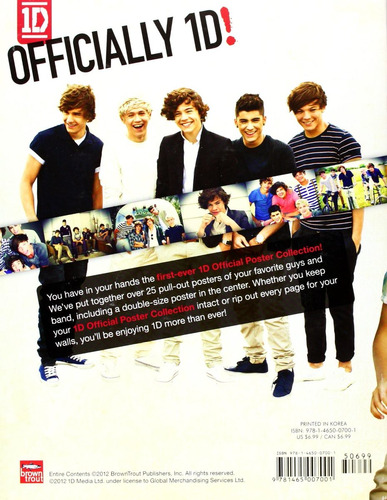 libro - poster oficial de one direction
