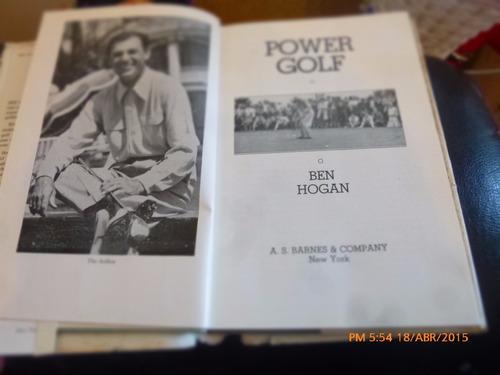libro power golf --ben hogan's (r832