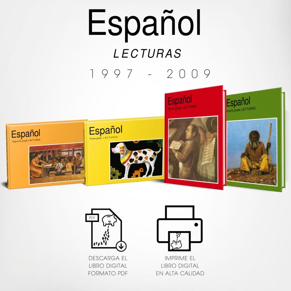 Libro Primaria Español Primer A Cuarto Grado Lecturas 00\'s ...