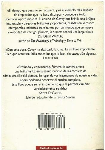 libro, primero, lo primero de stephen r. covey.