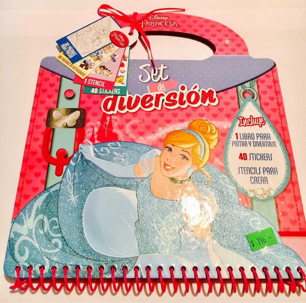 Libro Princesas Para Pintar Y Juegos + Stickers + Stencil - $ 196,00 ...