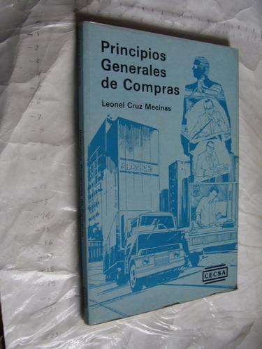 libro principios generales de compras , leonel cruz , 101 pa