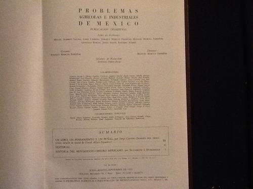 libro problemas agrícolas e industriale de méxico 1959