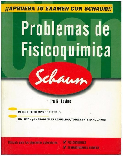 libro, problemas físicoquímica de ira n. levine serie schaum