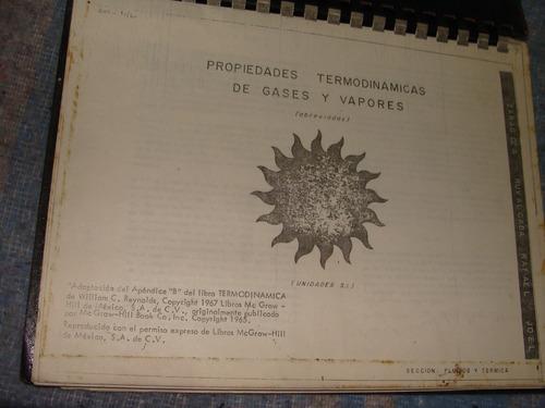 libro propiedades termodinamicas de gases y vapores