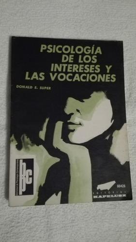 libro psicología de los intereses y las vocaciones, donald e