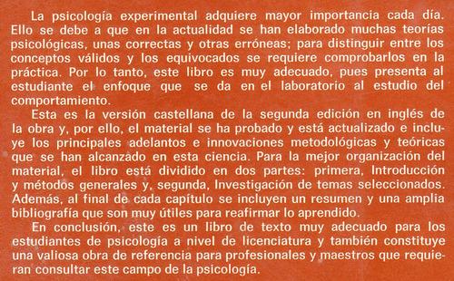 libro psicologia experimental