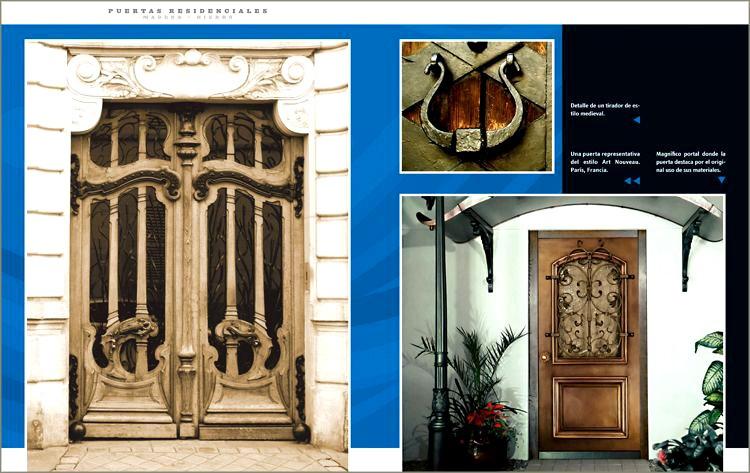 Libro puertas y portones residenciales madera hierro s for Puertas y portones de madera