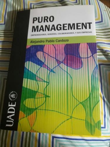 libro puro management de alejandro cardozo