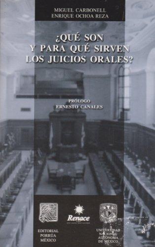 libro que son y para que sirven losjuicios orales - nuevo