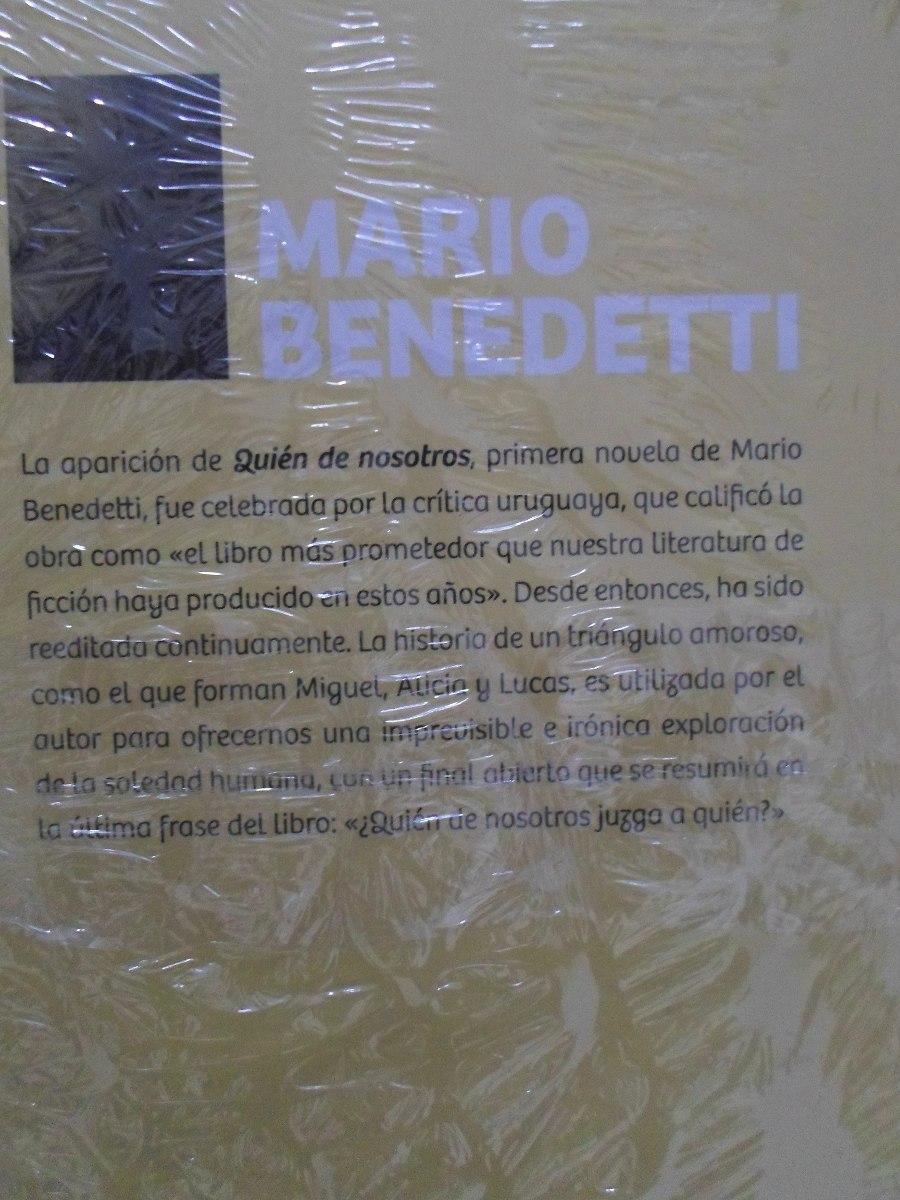 Libro Quien De Nosotros Mario Benedetti