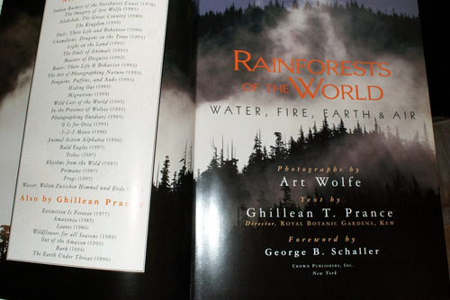 libro rainforests of the world waterfire earth air art wolfe