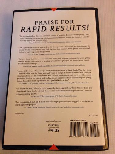 libro  rapid results! h.schaffer, robert!! usado! 18l