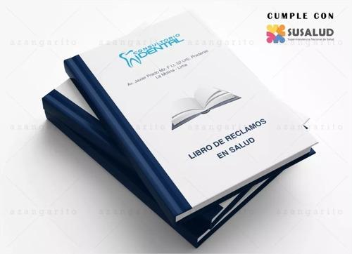libro reclamaciones, evita la multa! - indecopi - susalud