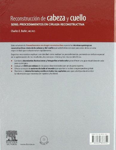 libro reconstrucción de cabeza y cuello (con dvd) - nuevo