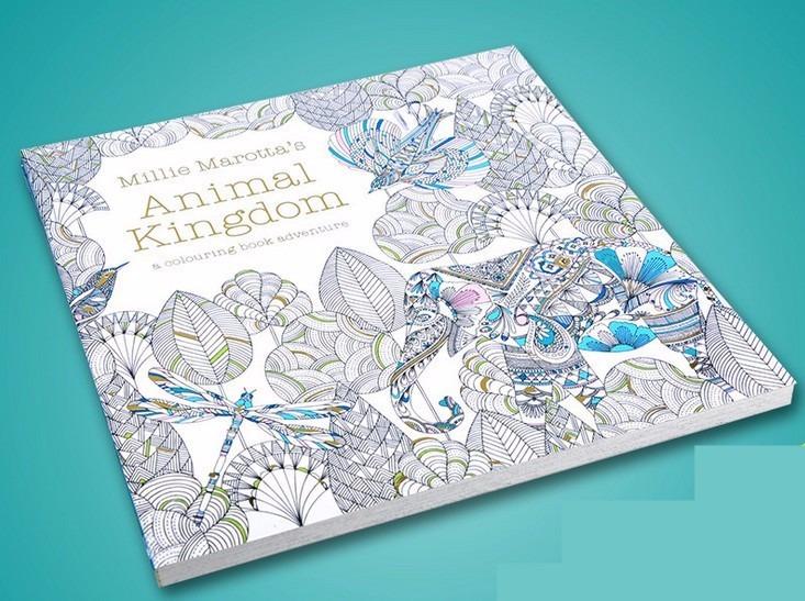 Libro Reino Animal, 96 Páginas, Animal Kingdom Para Colorear ...