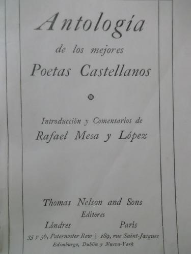 libro reliquia,1912- antología mejores poetas castellanos