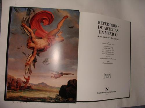 libro repertorio de artistas en mexico, tomo ii, guillermo t