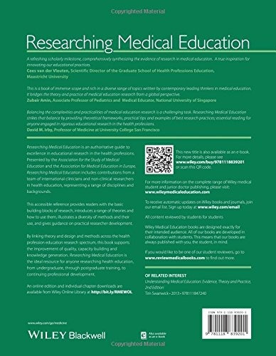 libro researching medical education - nuevo