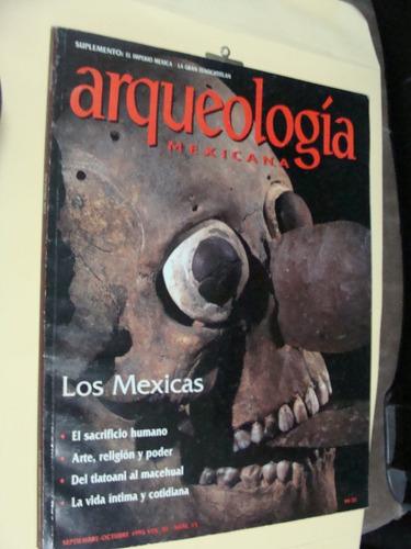 libro revista arqueologia , los mexicas , 76 paginas