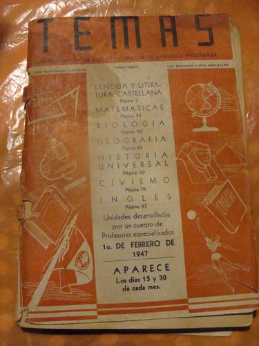 libro revista temas  , año 1947 , 96 paginas