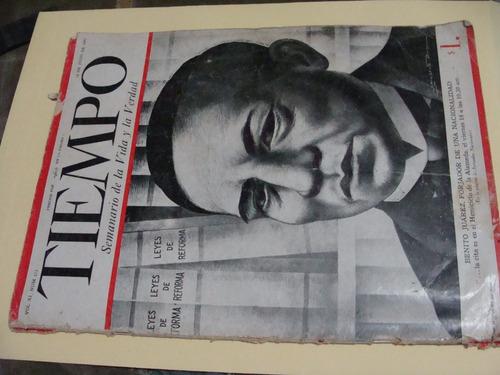 libro revista tiempo  , año 1947  , 48 paginas