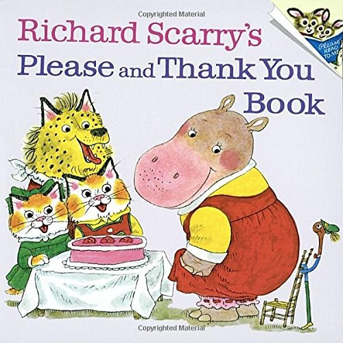 libro richard scarry's please and thank you book - nuevo
