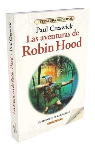 libro. robin hood. paul creswick. clásicos fontana.