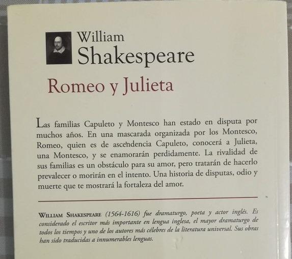 Libro Romeo Y Julieta William Shakespeare 9000