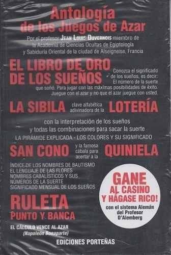 libro ruleta - antología de los juegos de azar