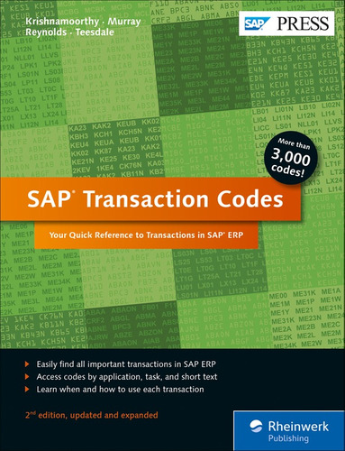 libro sap transaction codes your quick reference