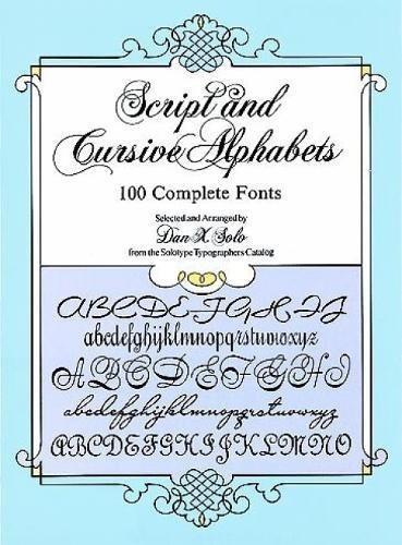 libro script and cursive alphabets: 100 complete fonts