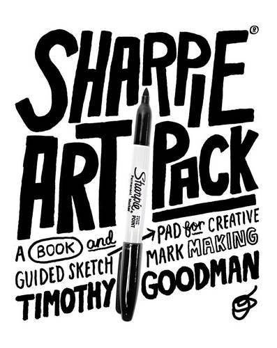 libro sharpie art pack: a book and guided sketch pad for c