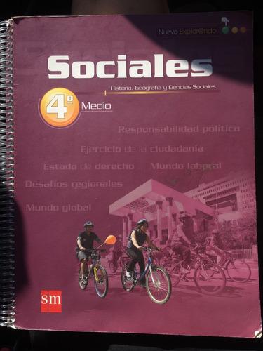 libro sm ciencias sociales historia cuarto medio casi nuevo