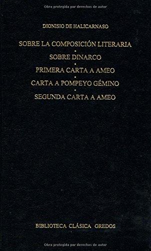 libro sobre la composición literaria, sobre dinarco: primara