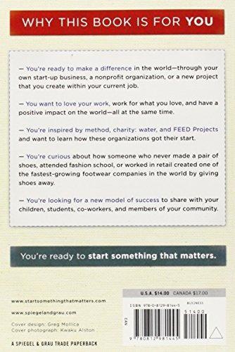 libro start something that matters - nuevo -