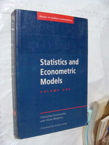 libro statistics and econometric models volume one , christi