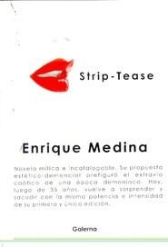 Libro Strip tease Enrique Medina Ed. Galerna