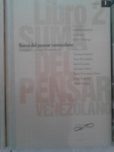 libro suma del pensar venezolano (3 tomos)