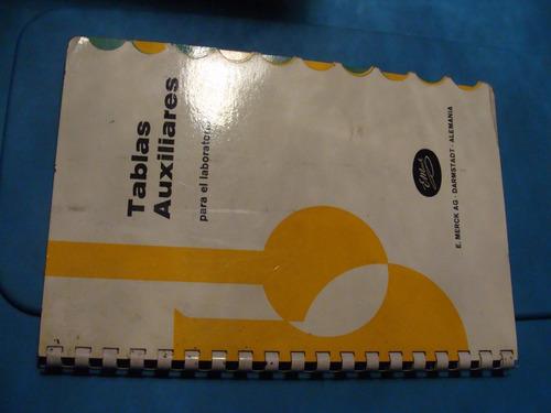 libro tablas auxiliares para el laboratorio   , 20 paginas
